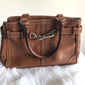 C O A C H  Authentic Satchel Leather Tan Bag
